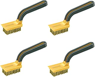 Allway Tools Soft Grip Wide Handle Brass Wire Stripper Brush, Sold as 4 Pack