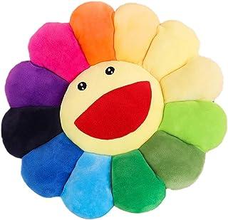 DUOCACL Cojines: cojín de Girasol Colorido, cojín de Suelo con Flor de Sol, Cojines de sofá para sillas Suaves para niños, para habitación de niñas y guardería, decoración del hogar