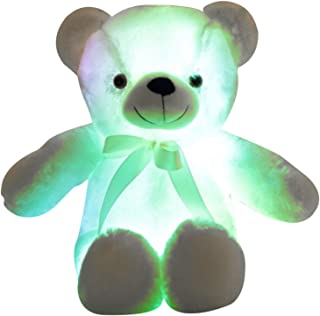 Portonss LED Bear Plush Toy Stuffed Animal Light up Glowing Toy 30cm/50cm for Kids Adults, Soft Teddy Bear Shape Doll Birt...