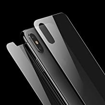 Singularity Products Front and Back Screen Protector Compatible with iPhone Xs/iPhone X, Tempered Glass 3D Touch Anti-Fingerprint/Scratch Compatible with iPhoneXs/iPhoneX (5.8 inch)