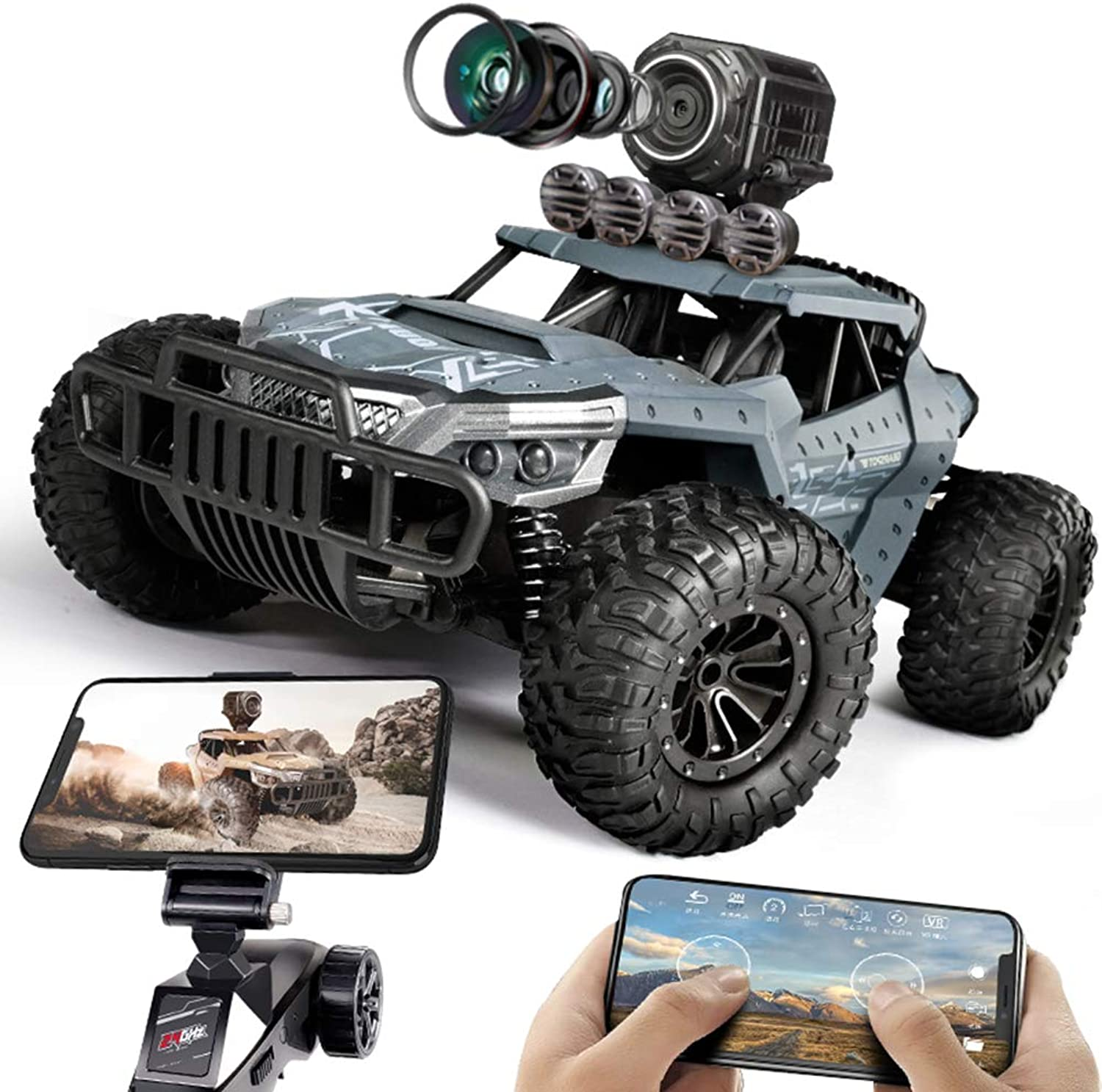 Flydancing 2.4Ghz Remote Control OffRoad Vehicle Wireless Camera Rechargeable for Kids Adults Hobby Toy