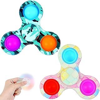 LONEA 2PCS Simple Dimple Fidget Spinner Toys,Push Bubble Sensory Toys for Adults,Fidget Pack ADHD Stress Relief Fidget Pac...