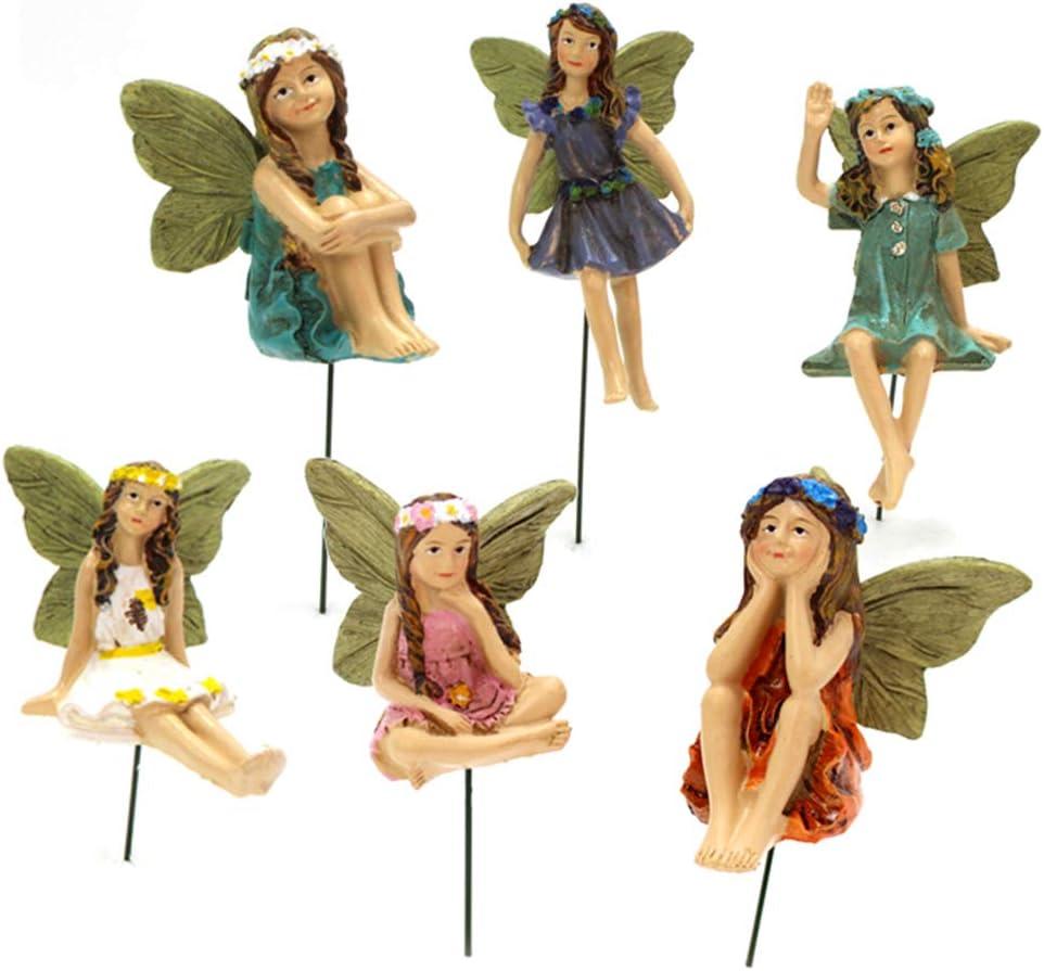 SHURROW Brand Cheap Sale Venue All stores are sold Fairy Garden - 6pcs Figurines Miniature Fairies Accessor
