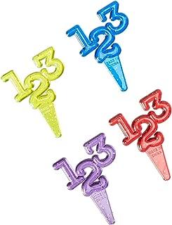 2 1//4-Inch 12-Pack Oasis Supply Cupcake//Cake Decorating 123 Puffy Glitter Picks