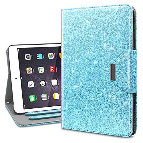 Dailylux iPad Mini Case,iPad Mini 1/2/3 Case,Glitter Sparkle Stand Folio Protective AntiShock Smart Cover with Auto Sleep/Wake Function for Apple iPad Mini 1/2/3 Bling Blue