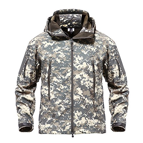 MAGCOMSEN Mannen Waterdichte Tactische Jassen Winter Outdoor Camouflage Softshell Jacket Fleece Voering