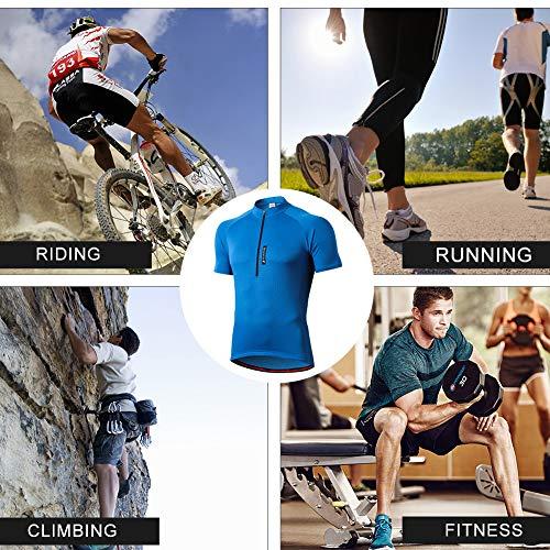 FEIXIANG Herren Fahrradtrikot, Kurzarm Radtrikot Fahrrad Trikot Fahrradbekleidung für Männer, Atmungsaktive Cycling Jersey Radsport Bekleidung - 6