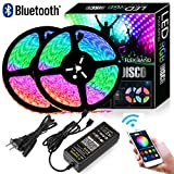 Autai Dream Color LED Strip Lights Kit,Smart Phone App Controlled,32.8ft/10m 300leds 5050 RGB Flexible Rope Light with Bluetooth Controller Sync to Music for Home Kitchen Bed Room Decoration