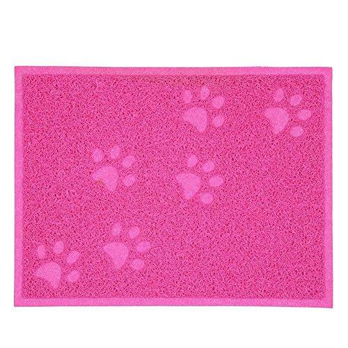 AntEuro Tapis pour litière à chat pour Bac à Litière - 30 x 40 CM (Rose)