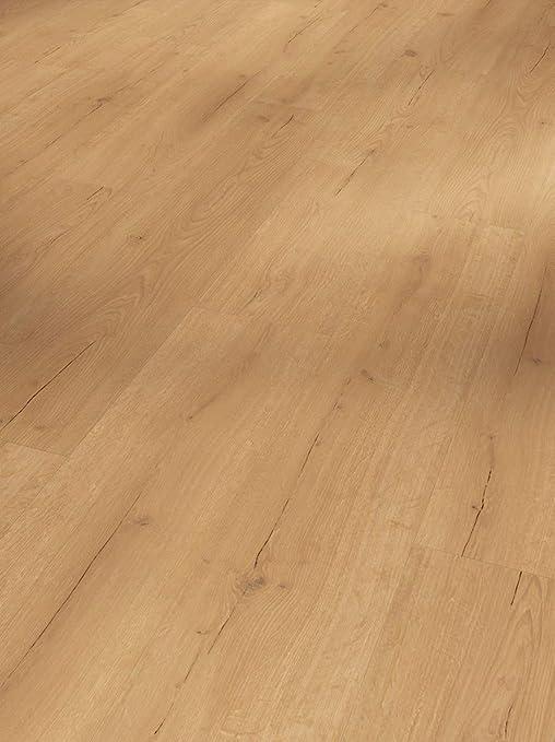 hochwertige Holzoptik mittel braun//beige 9,4mm Parador Klick Vinyl Bodenbelag Basic 30 Eiche Sierra Natur Landhausdiele Geb/ürstete Struktur 1,825m/² einfache Verlegung