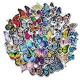 WEIGUANG Hermosas Pegatinas de Mariposa de Insectos, calcomanía de Vinilo, Pegatina para DIY, Guitarra, portátil, álbum de Recortes Ps4, Pegatina de Juguete para monopatín, 50 unids/Set