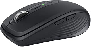 Logitech MX Anywhere 3 Compact Performance Mouse, Wireless, Comfort, Fast Scrolling, Any Surface, Portable, 4000DPI, Custo...