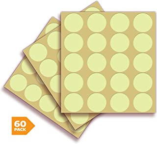 Glow in The Dark Dots Stickers – 60 Pack, 1 Inch – Premium Self-Adhesive Photoluminescent Vinyl, Safety Sticker, Perfect to Mark Stairs, Exits, Steps, Garages, Home, Office, Switches & Walls.