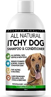 The Healthy Dog Co Champú para Perros Que Pica | Alivio de la Comezón y Cuidado de la Piel | Tratar la Picazón la Piel Ag...