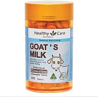 Healthy Care Goat Milk 300 chewable Tablets Chocolate Origin of Australia