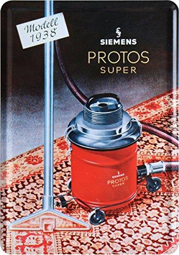 Siemens Protos stofzuiger 1938 reclamebord metalen bord ansichtkaart plaatkaart PKM 216