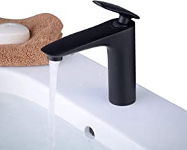 sola palanca Beelee BL6697N Grifo moderno del fregadero del lavabo del grifo del fregadero caliente y fr/ío del cuarto de ba/ño n/íquel cepillado