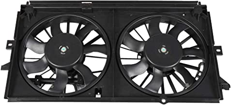 SCITOO Dual Radiator or Condenser Cooling Fan Compatible with 1999 2000 2001 2002 2003 Chevrolet Monte Carlo Impala