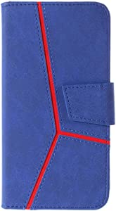 DENDICO Galaxy Plus Case Magnetic Slim Wallet Case Leather Cover Shockproof Protective Case with Card Holder for Samsung Galaxy Plus Blue