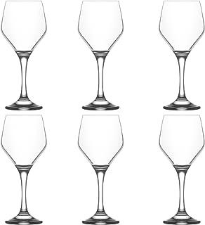 LAV Ella Medium Wine Glasses, 330ml - Set of 6 Stemware Goblets