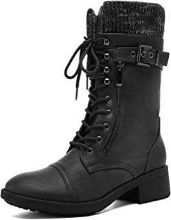 Women's Amazon Mid Calf Combat Riding Boots