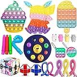 WR WPAIER Fidget Toys Pack, Juguetes Fidget Pack, Alivia Estrés y la Ansiedad Toy, Push Bubble Fidget Juguete Sensorial para Niños D