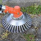 Cepillo para desmalezas, desbrozadora, cepillo redondo para 150 x 25,4 mm y 200 x 25,4 mm, para desbrozadora, desmalezadora