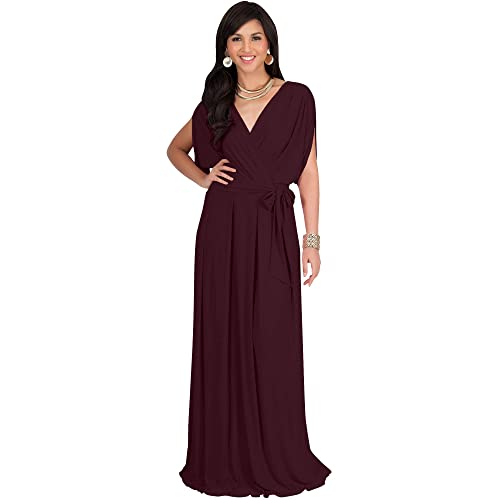 a086a89a898 KOH KOH Formal Short Sleeve Cocktail Flowy V-Neck Gown