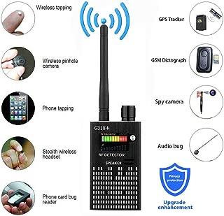 Professional Wireless RF Signal Detector, Sensico Anti Spy Camera Detector Set, G318+ Multi-Functional GSM Device Finder, Wireless Audio Bug Hidden Camera Detector GPS Tracker Scanner