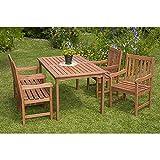 MERXX Gartenmöbel-Set Palermo 5-tgl. Eukalyptusholz, mit Sessel und Tisch