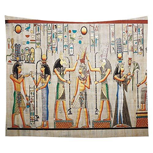 Tapiz de faraón egipcio antiguo pintura famosa pirámide colgante de pared pirámide mural egipcio tela de fondo A12 73x95 cm