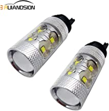 Ruiandsion Extremely Bright PWY24W LED Bulbs White 12V-24V Canbus Error Free CREE 50W Replacement for Turn Signal Lights or Daytime Running Lights (Pack of 2)