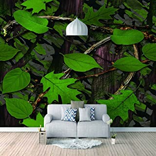 VITICP Adults Kids Wall Stickers Decals Peel and Stick Removable Wallpaper Green Tree Vine Leaves for Nursery Bedroom Livi...