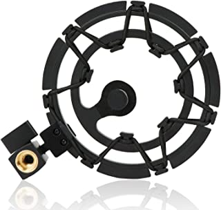 Shock Mount Compatible With Blue Yeti, Blue Yeti Pro and Blue Snowball Microphones, Eliminates Noises and Vibration Black/Champagne