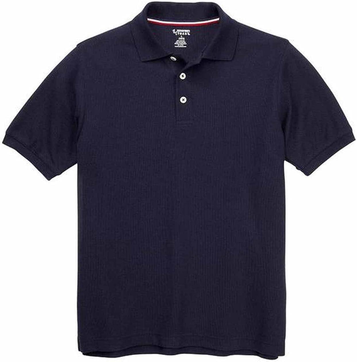 French Toast Boys Short Sleeve Shirt 2 Pack Polo's (XL (14/16), Navy)