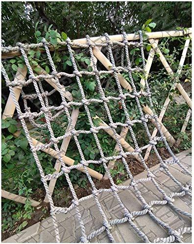 AINUO Red de escalada para niños, cuerda para escalar, columpios de jardín para niños, marcos de escalada para jardín (color: 12 cm-12 mm, tamaño: 2 x 6 m/6,6 x 20 pies)
