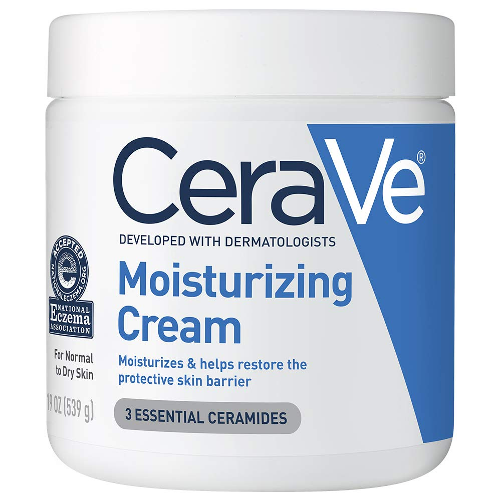 Amazon.com : CeraVe Moisturizing Cream | Body and Face Moisturizer for Dry Skin | Body Cream with Hyaluronic Acid and Ceramides | 19 Ounce : Beauty
