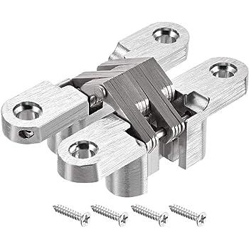 Crossed Concealed Hinge Zinc Alloy Adjustable Door Hinge Cuque Adjustable Hinge Fittings Folding Doors Wooden Doors