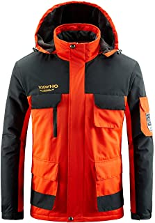 Men's Waterproof Ski Jacket Mountain Windproof Rain Snowboarding Jackets Winter Fleece Warm Snow Hooded Coat