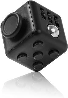 Flourishing Fidget cube フィジェットキューブ ストレス解消キューブ ポケットゲーム 集中力を高める道具 不安 緊張解消グッズ (ブラック)