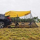 sZeao Coche Carpa Puerta Trasera, Toldo Lateral del Maletero del Vehículo De La Sombrilla Portátil a Prueba De Sol, Exterior Camping Viaje En Automóvil, para SUV Hatchback Minivan Sedan