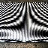 Peter Horton Denim-Stoff – gestreifter blauer Jeansstoff