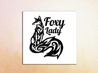 Foxy Lady Decal/Long-Tailed Foxy Lady Decal for Car Windows, Macbooks, Tablets, Tumblers, Coolers, Mirrors, Glass, Tablets, Kindles, iPads