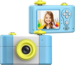 Anti-Fall Kids Camera Toys for Gifts, Shock-Proof Rechargeable Cute Mini HD 5.0mp 4X Digital Camera for Girls Dust-Proof Children Digital Video Camera with Photo Frame Preschool Camera Toys