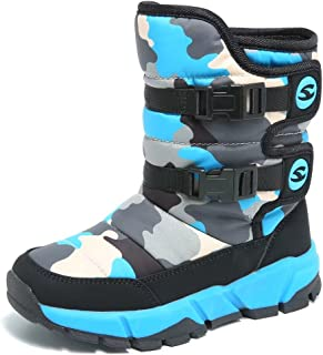 Boys Snow Boots Winter Waterproof Slip Resistant Cold...