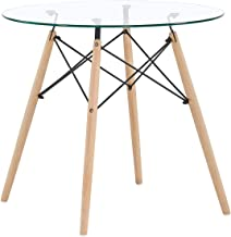 Amazon Fr Table Ronde Verre Tables Salle A Manger