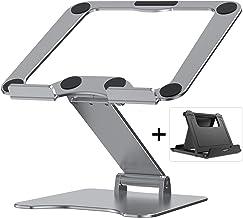 Letlar Laptop Stand, Adjustable Height Laptop Riser for Desk, Aluminum Laptop Holder Compatible with MacBook, All Tablets ...