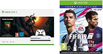 FIFA 19 Champions + Xbox One S - Consola 1 TB + Shadow Of The Tomb ...