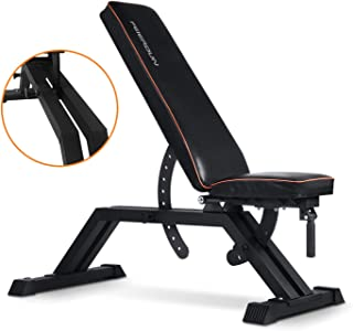 red weight bench