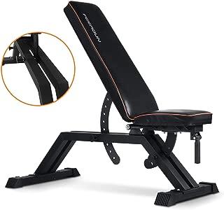 FEIERDUN Weight Bench - 1000LBS Utility Adjustable Weight Bench Heavy Duty Workout Bench & Flat/Incline/Decline Position